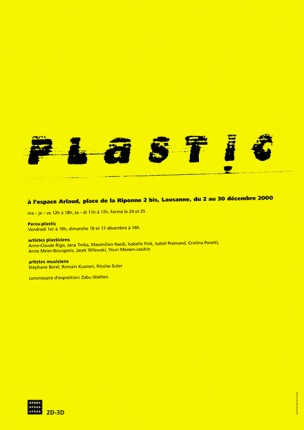 affiche pour l'exposition PLASTIC